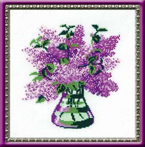 производитель РИОЛИС ¶артикул 603¶размер 20х20¶техника счетный крест¶тематика цветы¶состав канва 15