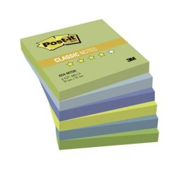 Стикеры Post-it 654-МТ 76х76 Хол.неон.радуга,6бл.