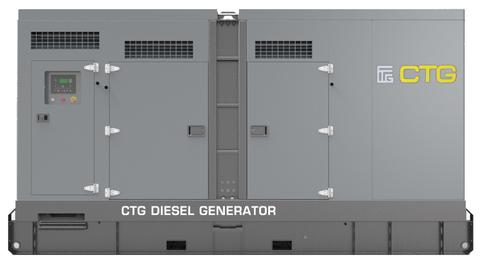 Дизельный генератор CTG 500D в кожухе