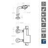 Смеситель термостатический для ванны с душевым комплектом AROLA 2635MK напольный - фото №2