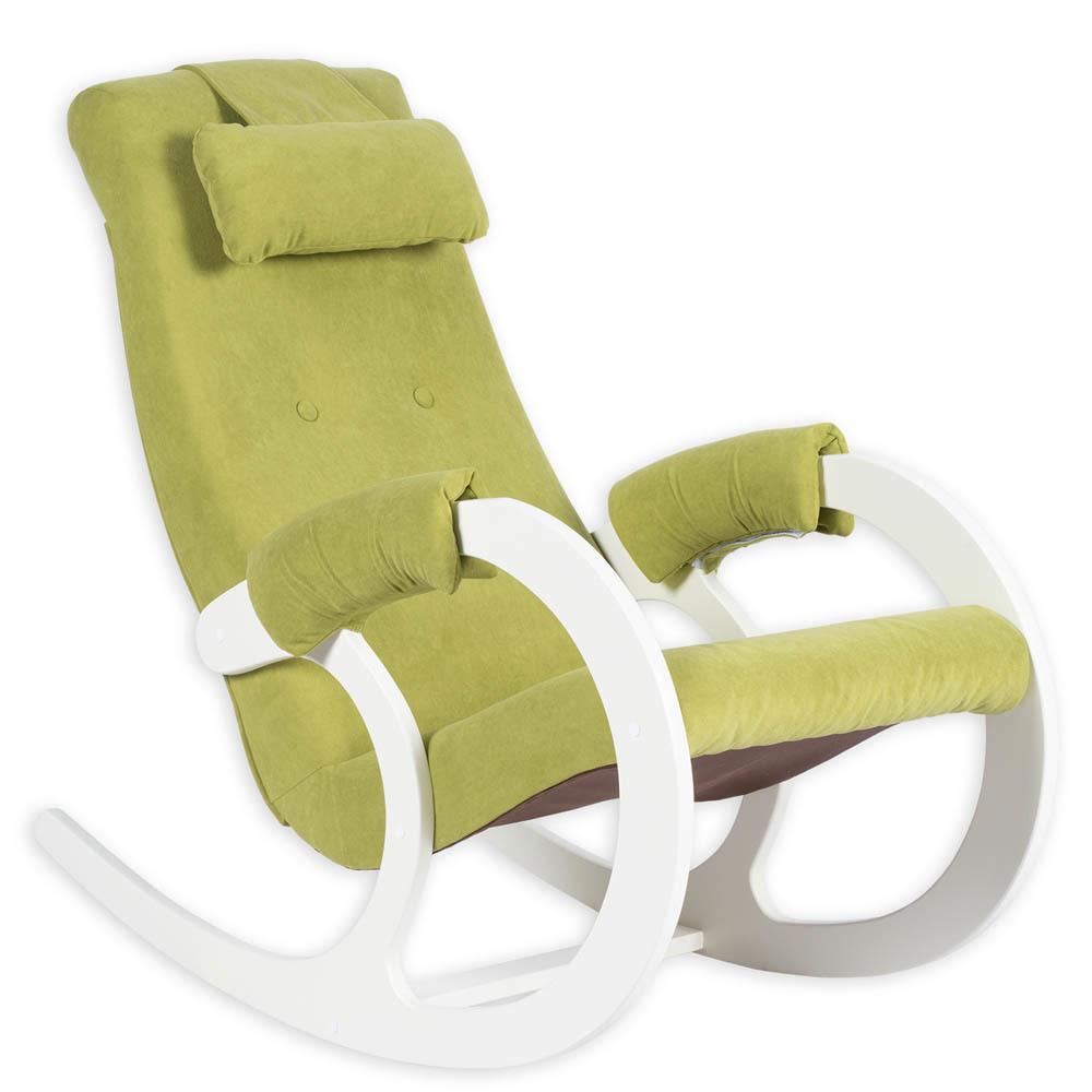 Классические Кресло-качалка Блюз Ткань (Avocado Green) bluze-green-milk-1.jpg