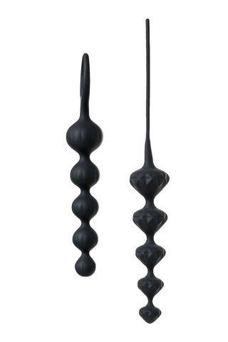 Набор из 2 чёрных анальных цепочек Satisfyer Love Beads