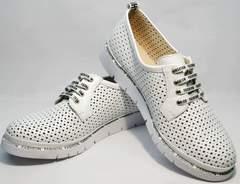 Женские спортивные туфли с перфорацией GUERO G177-63 White.