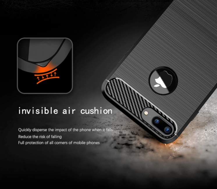 Чехол iPhone 7 Plus цвет Black (черный), серия Carbon, Caseport
