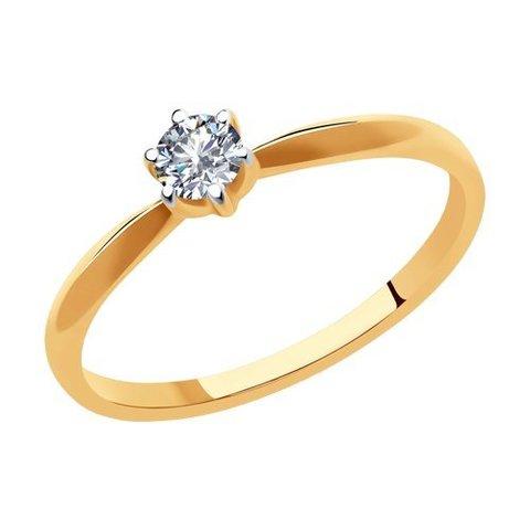 1011918 - Кольцо из золота с бриллиантом