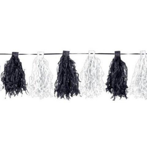 Гирлянда с кисточками Black&White, 3 м