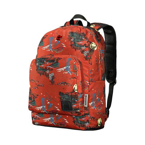 Городской рюкзак Crango красный с рисунком (27л) WENGER 610194