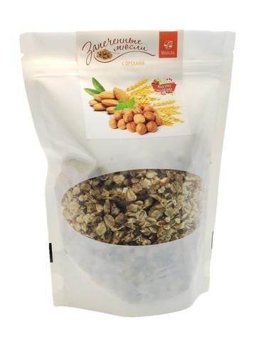 Мюсли запечённые с орехами, 300 г