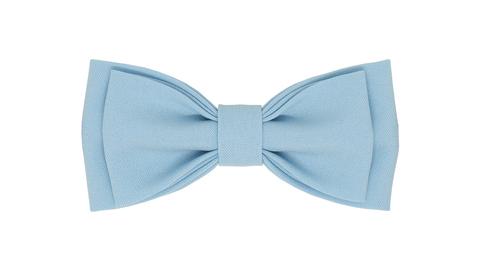 Однотонный галстук - бабочка (голубой)
