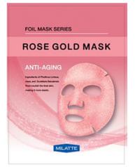 МЛТ Маска на тканевой основе для лица антивозрастная MILATTE ROSE GOLD MASK_ANTI-AGING  23гр