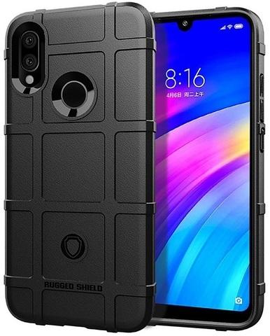 Чехол для Xiaomi Redmi 7 (Redmi Y3) цвет Black (черный), серия Armor от Caseport