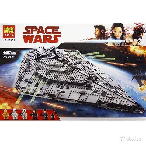 Конструктор Звзедные Войны 10901 Звёздный разрушитель первого ордена 1457 дет.