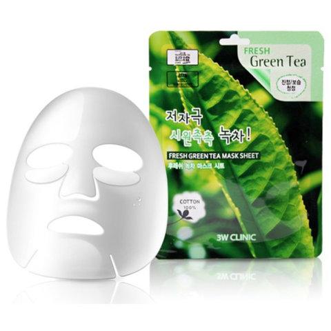 Тканевая маска для лица 3W Clinic с экстрактом зеленого чая 23 мл