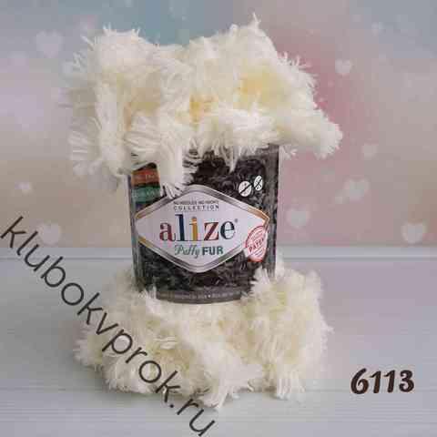 ALIZE PUFFY FUR 6113, Молочный
