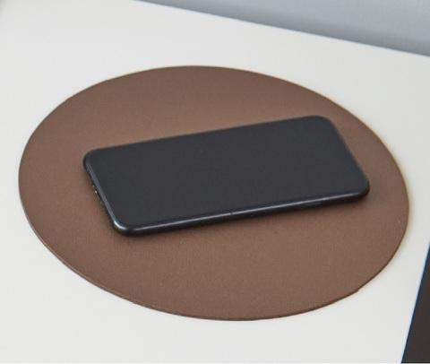 Коврик для мыши круглый Лардук коричневый