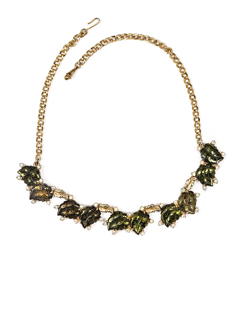 Женственное колье Schiaparelli с флористическими мотивами