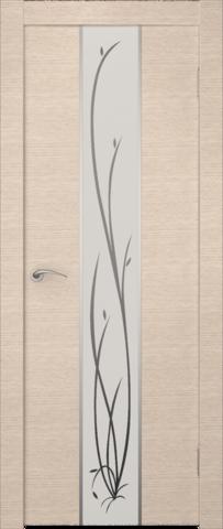 Дверь Гранд (зеркало с рисунком) (беленый дуб, зеркало экошпон), фабрика Zadoor
