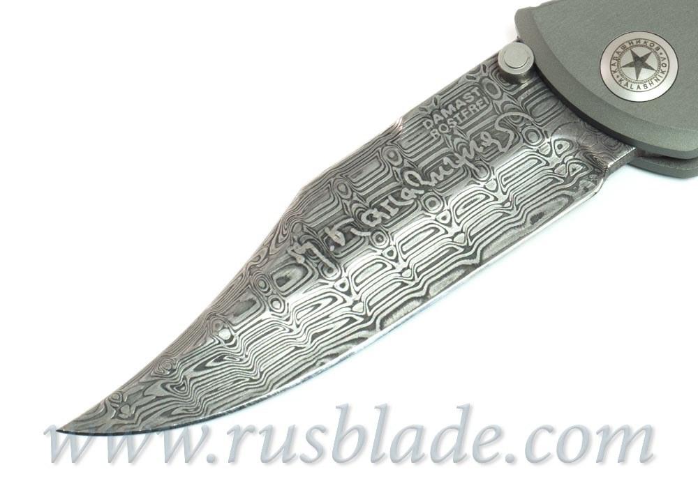 "Boker Kalashnikov Leo Damascus 4"" Blade with Aluminum Handle - фотография"