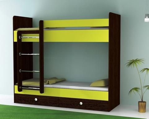 Кровать двухъярусная  ТЕНРИ с ящиками левая 1800-700 /1832*1604*852/