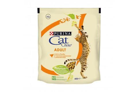 Сухой корм для взрослых кошек Purina Cat Chow, домашняя птица