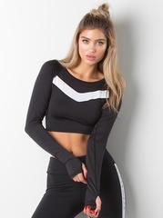 Женский рашгард Ryderwear Performance Crop - Black