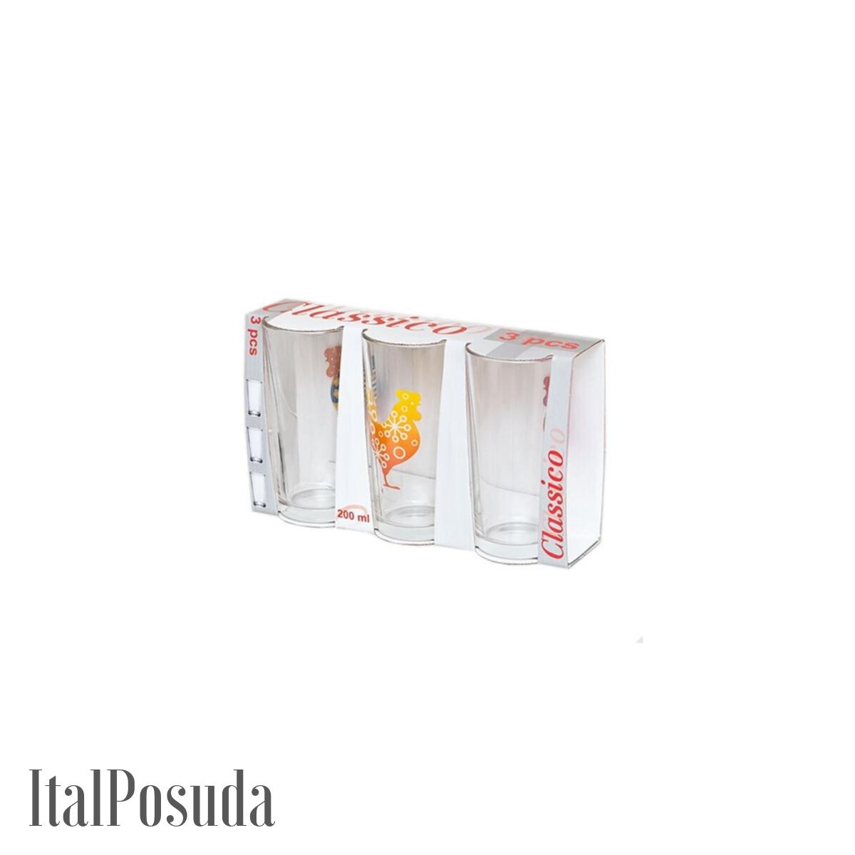 Набор стаканов Luminarc Ода Петух, 3 шт 05C1256P