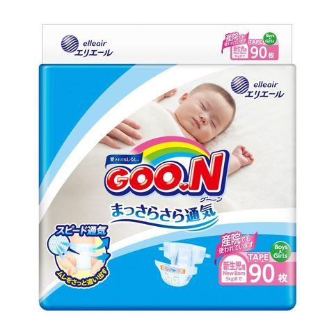GOON. Подгузники для новорожденных NB 0-5 кг, 1уп./90 шт.