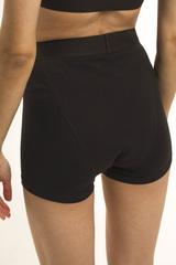 Впитывающие высокие трусы-шорты с увеличенной впитывающей ластовицей (Черные, Размер M)