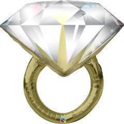 Q ФИГУРА 5 Кольцо с бриллиантом, 36
