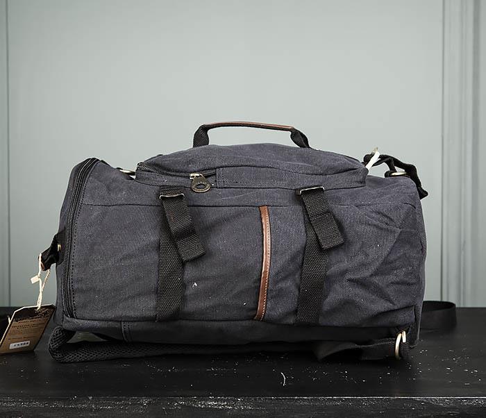 BAG368-1 Городская тканевая сумка рюкзак с ремнем на плечо фото 05
