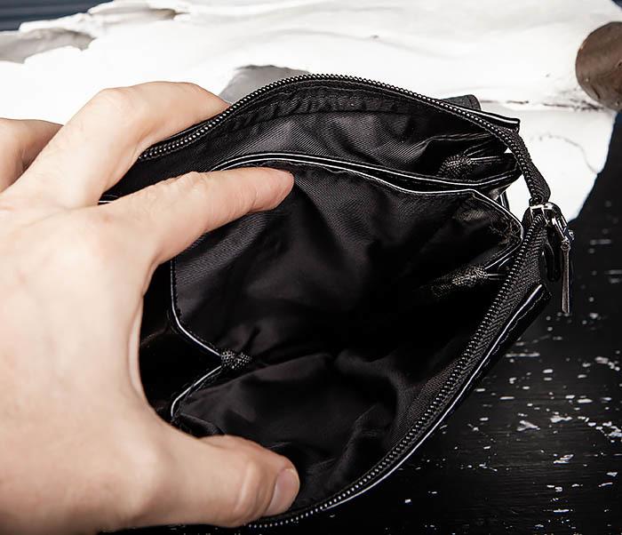 BAG560-1-3 Мужская кожаная сумочка с ручкой и ремнем фото 10