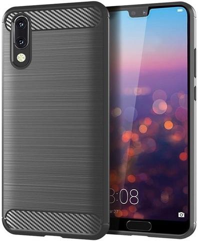 Чехол Carbon для Huawei P20 серия Карбон | серый