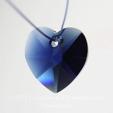6202/6228 Подвеска Сваровски Сердечко Dark Indigo (14,4х14 мм) ()