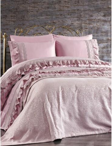 Постельное белье Gelin Home LAURA темно-розовый евро