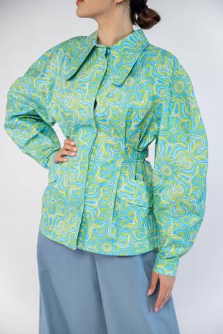 Куртка приталенная (принт 91-01) Adili