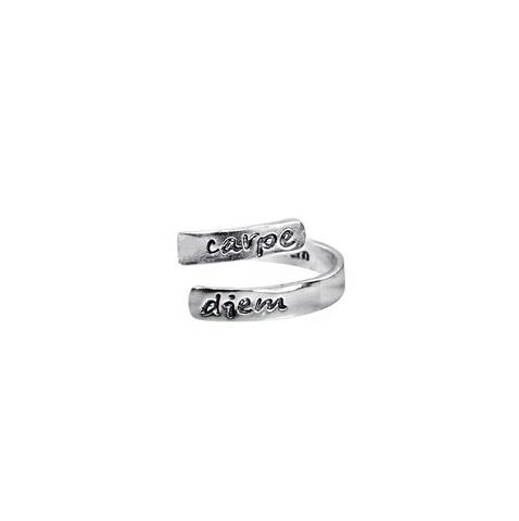 Carpe Diem adjustable ring, Sterling Silver