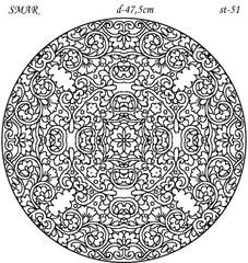 Эскиз для росписи, Круг диаметр-47,5см, SMAR-st-51