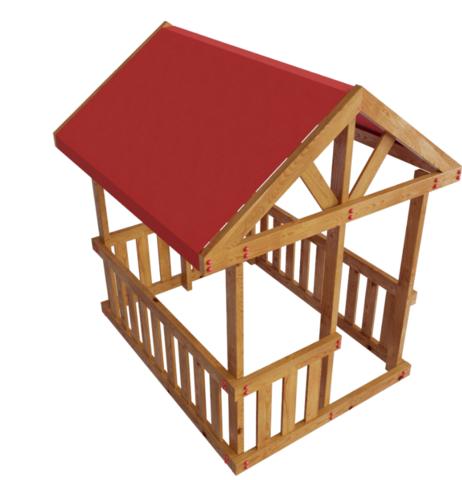 Детская деревянная игровая площадка Гоа Беседка
