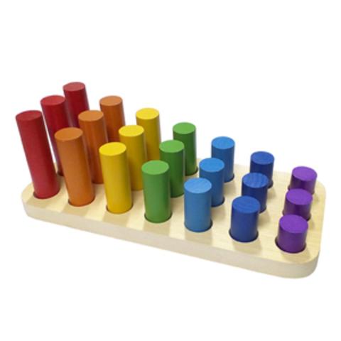 Цилиндры втыкалки Радуга (3 ряда) (RNToys)