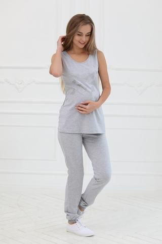 Спортивнеы брюки для беременных 10195 серый