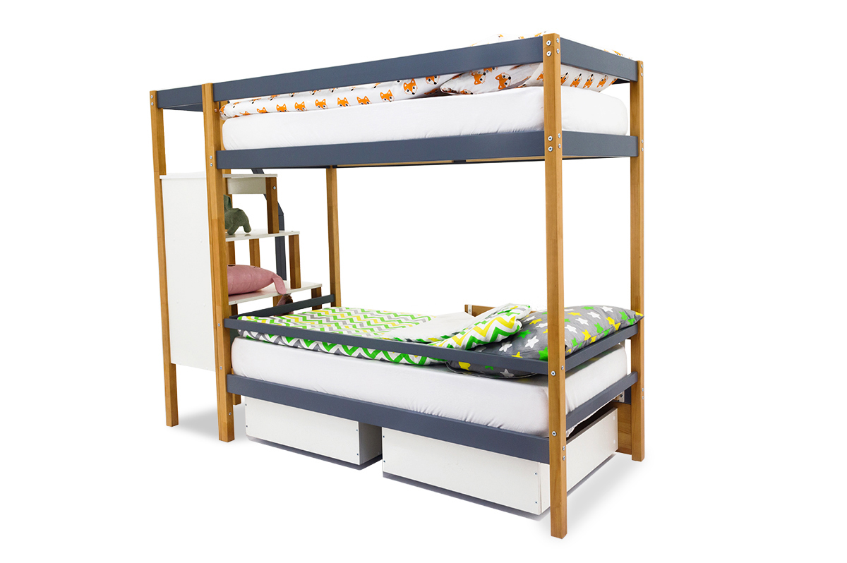 Двухъярусная кровать «Svogen» дерево-графит
