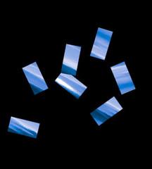 Конфетти металлизированное, Прямоугольное Синее, 1*2см, / 100 г. /