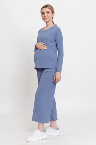 Костюм для беременных 12359 темно-голубой