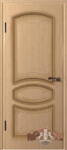 Дверь 13ДГ1 (светлый дуб, глухая шпонированная), фабрика Владимирская фабрика дверей