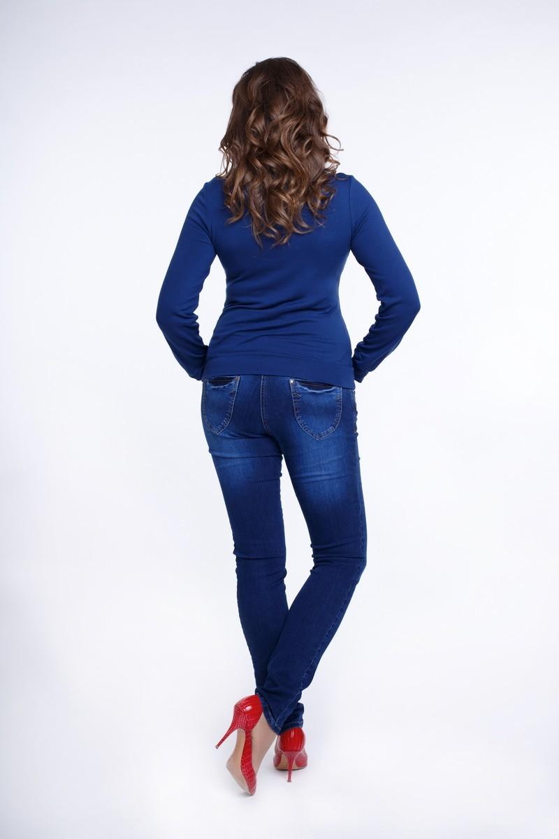 Джемпер для беременных 01817 синий
