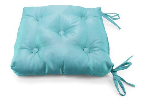 Подушка на стул жаккард Элегия синий