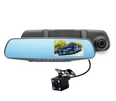 Зеркало-видеорегисторатор с 2 камерами FULL HD VEHICLE BLACKBOX DVR MS430