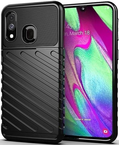Чехол для Samsung Galaxy A40 цвет Black (черный), серия Onyx от Caseport