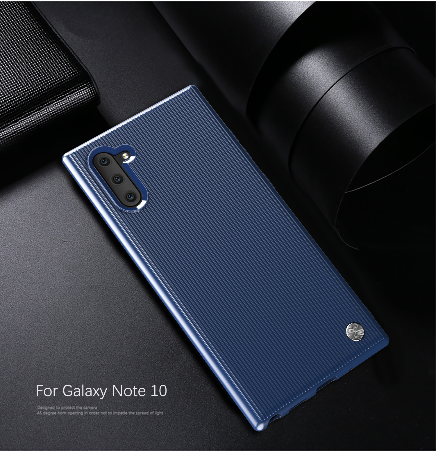 Чехол для Samsung Galaxy Note 10 цвет Blue (синий), серия Bevel от Caseport