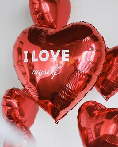 Сердце с индивидуальной надписью + 5 сердец